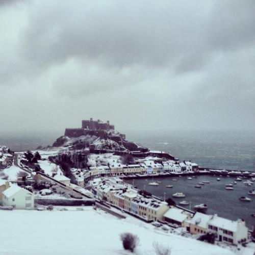 Another picture of Jersey looking pretty in the snow! Taken by the Jersey Arts Trust.