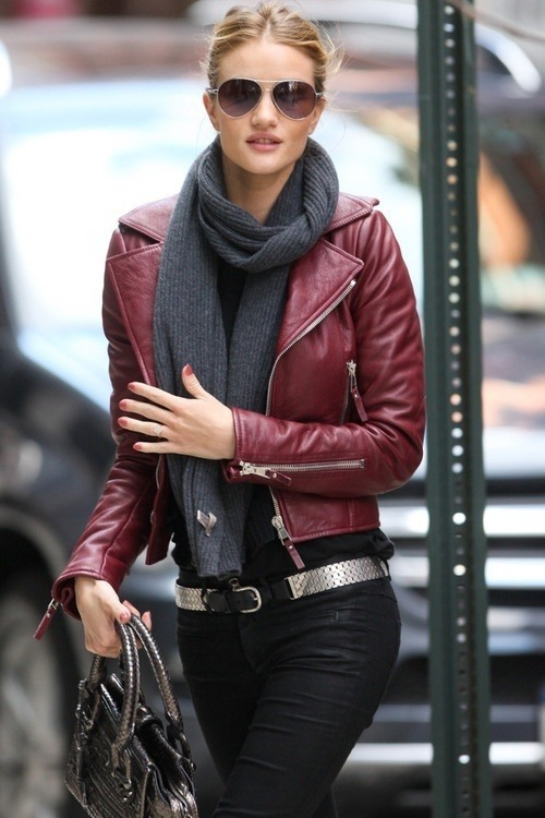 trendy-fashionable-stylish:  Oxblood Leather Coat Picture & Image | tumblr on @weheartit.com - http://whrt.it/Ux63MK