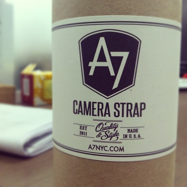 Psyched to get my @a7nyc camera strap via @smallknot ! (at Smallknot HQ)