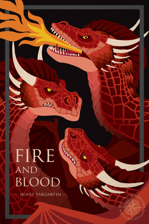 Game of Thrones House Posters by WindsOfBeleriand
