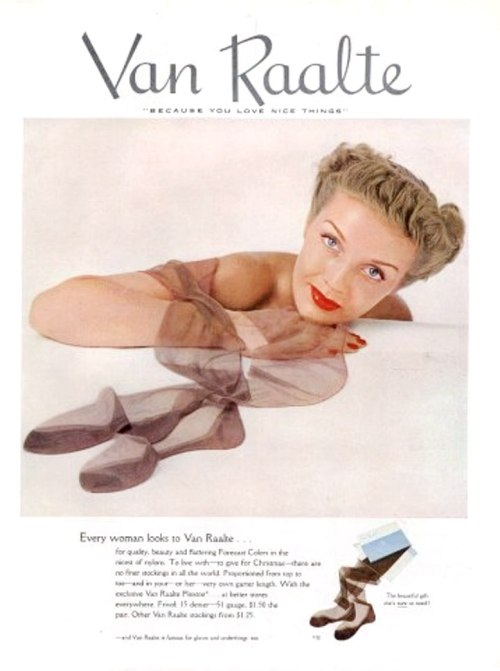 Van Raalte Stockings Ad - 1949 http://hprints.com