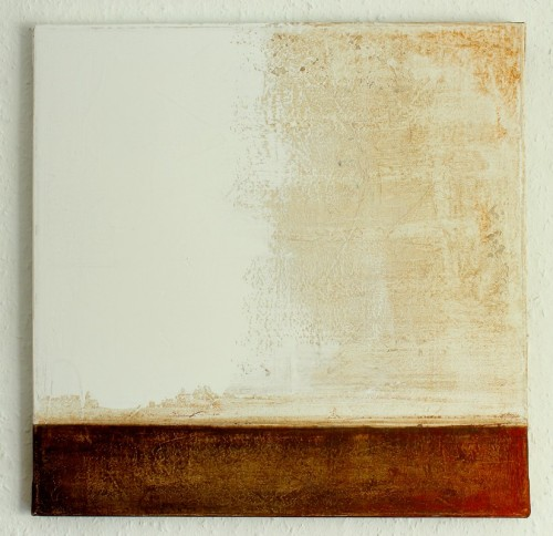 hetart:  white brown painting - 2013 - 50x50 cm - mixed media on canvas   art by CHRISTIAN HETZEL