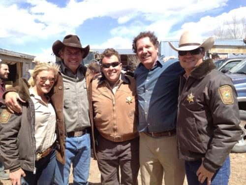 @bobjesser: A great day on the set of #longmire. Thanks @kateesackhoff @Adam_Bartley @Bailey_Chase and Robert Taylor!!! pic.twitter.com/rPHdeN9oKD