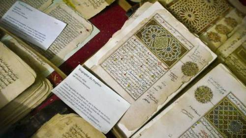 "UPDATE: Timbuktu manuscripts missing, not torched? ""When hundreds of French soldiers rolled into the remote desert city in northern Mali on Monday, cheered by thousands of residents who were ecstatic that the Islamist rebels had fled, one of the biggest fears was the fate of Timbuktu's ornately crafted manuscripts, as precious to world history as the Dead Sea Scrolls…The city's mayor, exiled far away in Mali's capital, alleged that the Islamist extremists had torched the manuscript libraries, burning them to the ground. This was quickly disproved by a Sky TV crew embedded with the French soldiers, who found the main library intact, alleviating the worst fears of many scholars. Inside the library, television reports showed a few small piles of ash, along with dozens of empty boxes. Up to 10,000 manuscripts were gone."" Read more.  UPDATE January 30: More information here from the Tombouctou Manuscripts Project. ""Since the start of this week there are reports about the destruction of library buildings and book collections in Timbuktu. It sounds as if the written heritage of the town went up in flames. According to our information this is not the case at all. The custodians of the libraries worked quietly throughout the rebel occupation of Timbuktu to ensure the safety of their materials."""