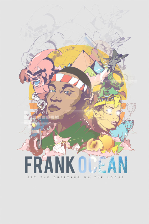kendu56:  Re-colored frank ocean collage. pretty much done. kendu56.com