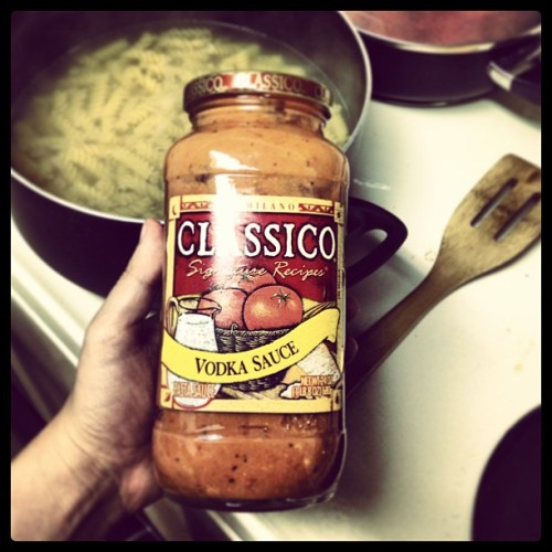 Best.pasta sauce.ever. #classico #vodkasauce (at Layaway Ray's Bait n' Tackle)