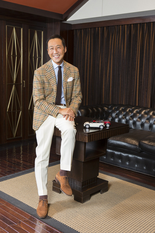 bespoke-makers:  The Dandy in the Picture : Yasuto Kamoshita The style icon, well-known and well-dressed Kamoshita in Liverano & Liverano