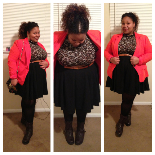 Went to Trey Songz concert in Houston for NYE with my BFF! Crop Top — www.iheartposhshoppe.com Blazer — Forever 21 Skirt — Asos Boots — Target