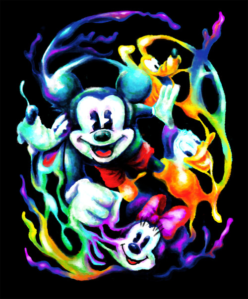 Massive Color Submission for Threadless, Mickey and Friend Challenge…Please vote here : Threadless