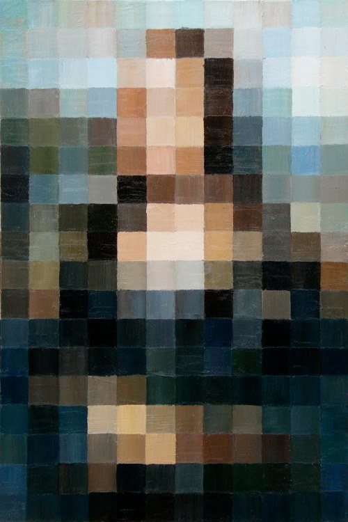 gaksdesigns:  8-bit Mona Lisa