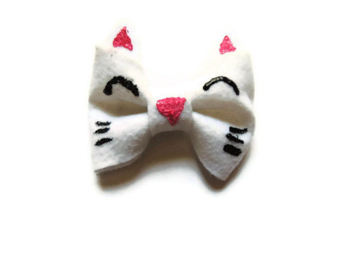 Kawaii Happy Kitty Cat Face Bow!!