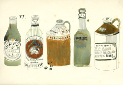 kattfrank:  Old bottles in a line.