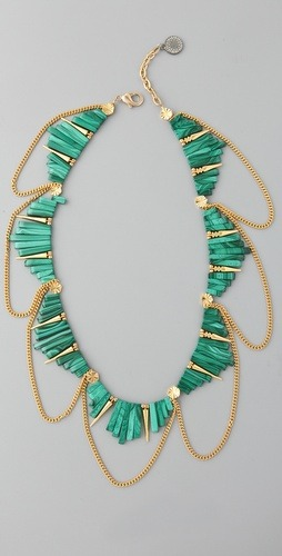 whatwouldkhaleesiwear:  What Would Khaleesi Wear?Gemma Redux Malachite Rectangles Necklace (x)