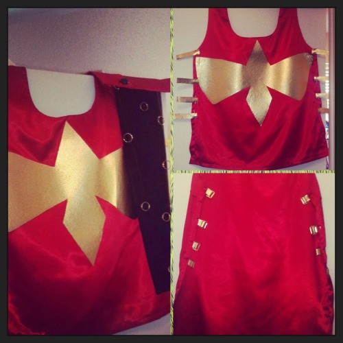 Phoenix Force Magik cosplay allllmost complete and will make a debut at Orlando Comic Expo. There's a lot of squee going on right now.