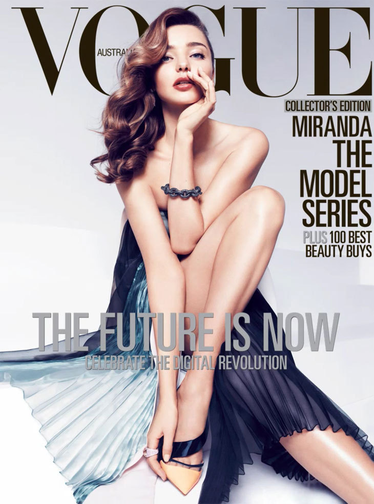 Miranda Kerr by Miguel Reveriego for Vogue Australia April 2013.