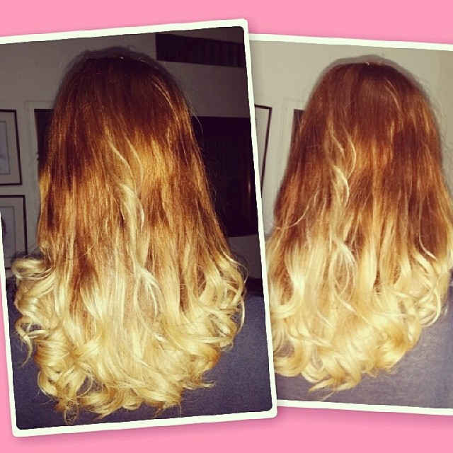 Lovin my #hair last night :D #hairstyle  #ombre #love