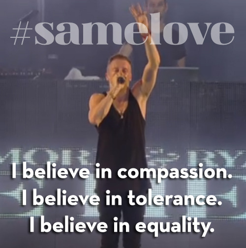 "REBLOG this message! We <3 Macklemore and Ryan Lewis. Watch ""Same Love"" at the Hangout Fest!"