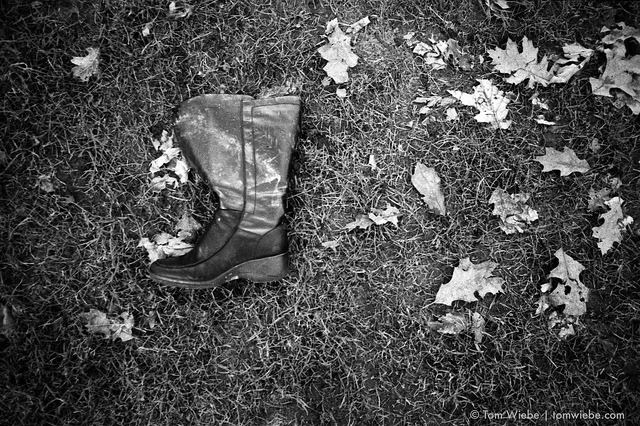Footless on Flickr.Via Flickr: You've got to check when you find a boot or shoe near the waterfront in Vancouver, we've got a long history of errant feet washing up on shore.  This one was empty which gives rise to some interesting questions that, having never lost one shoe in a park or elsewhere, I don't feel qualified to answer.