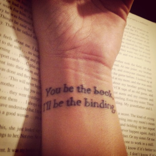 "fuckyeahtattoos:  Song lyrics from Edward Sharpe and the Magnetic Zeros' ""That's What's Up"" Done by Jimmy at Decorative Injections in Athens, Ohio"