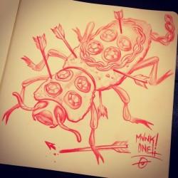 Late night sketch. #Makech #Art by #Munk_One #Merida #Yucatan #cercademicorazon #legend #mayan