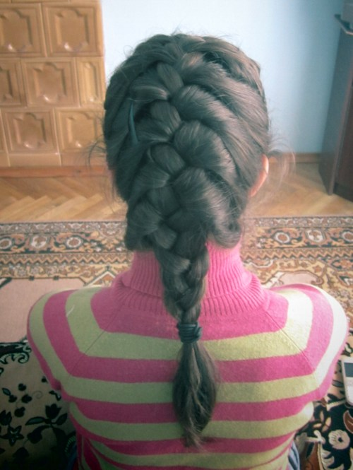 one of the daughters of one of my cousins made me a braid