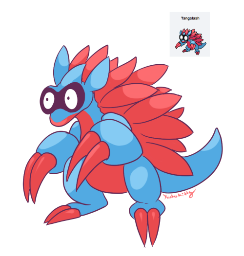 Tangela and Sandslash fusion…. TANGSLASH