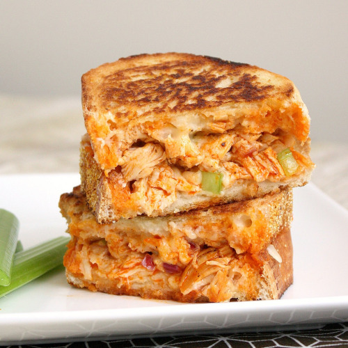 foodfetishfridays:  Buffalo Chicken Grilled Cheese by Tracey's Culinary Adventures