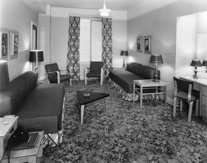 1949 view of a room at the Atlanta Biltmore Hotel. Browse and order prints from our collection.