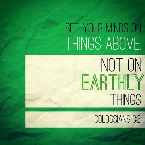 Keep not just good thoughts but also God thoughts. 💚 #phoster