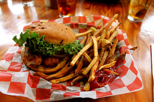 prettygirlfood:  Fish Sandwich w. Fries