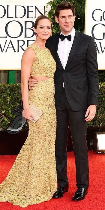 viviandior:  Emily Blunt and  John Krasinski at the Golden Globe Awards