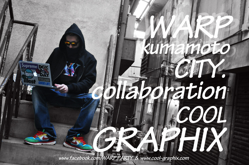 WARP × COOL GRAPHIX TEEs ¥2,500 size S~XL http://www.cool-graphix.com/