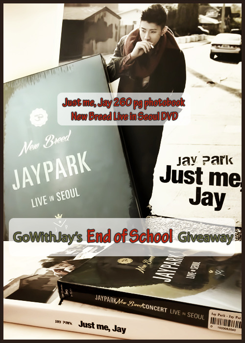 gowithjay:  Hello and welcome to our latest giveaway! School terms all around the world are coming to an end and what better way to celebrate passing yet another grade than by giving away free goodies?! As a token of our appreciation to all our wonderful followers and all the lovely Jwalkerz we're giving away to ONE lucky winner: Just me, Jay ~ a 260 page MASSIVE photobook [see here] New Breed Live in Seoul DVD [see here] ♡ Deadline: June 30, 2013♡ Open: to anyone, anywhere in the world! ^ㅠ^   ♡ Rules: Must follow Go With Jay. After all, this is to thank our followers. ^^ Reblogs and likes count as ONE entry each. (For example: You may have up to a total of 2 entry chances to win if you do both methods of liking and rebloging, however excessive rebloging will not increase your chances of winning.) NO GIVEAWAY BLOGS. [RP blogs are okay] One winner will be selected at random using random.org Inbox must be open so we can message you if you win. You have 48 hours to get back to us after we message you otherwise we will pick another winner as it's only fair. Thanks again to everyone and good luck!