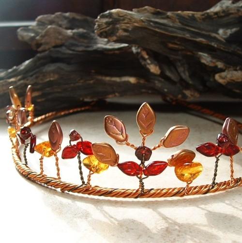 elven headdress circlet fairy crown Fairy Fashion tiara Autumn weddings autumn