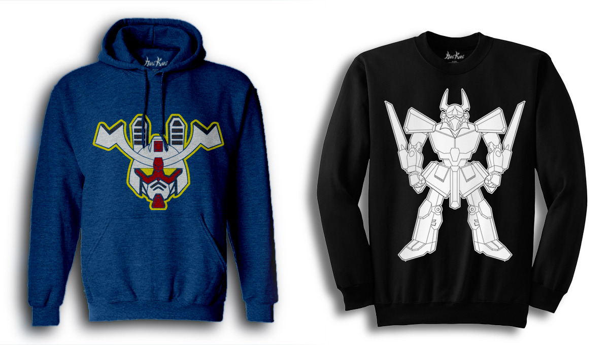 Gundam Inspired Clothing From Hari Kari Old school anime heads rejoice! Florida based clothing company, Hari Kari, has recently revealed their newest clothing creations for the season. The first winter drop unveiled these two new items to the store, both directly inspired by the legendary anime, Mobile Suit Gundam. The Mecha Throwback Pullover is available for pre-order at $33, while the fresh Mecha Stencil Crewneck is $26.