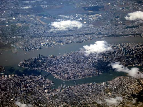 New York City from my airplane window - Imgur