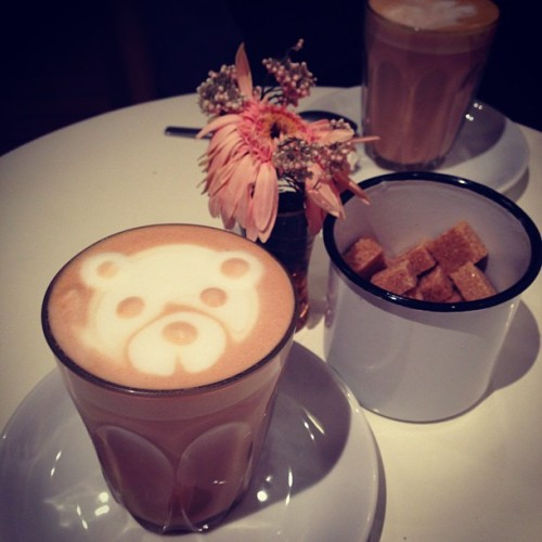 TED in a cup.#chaitealatte #singapore  (at The Orange Thimble)
