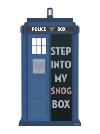 eatsleepdraw:  You know the Tardis will now forever be known as the snog box. —DaisyMay