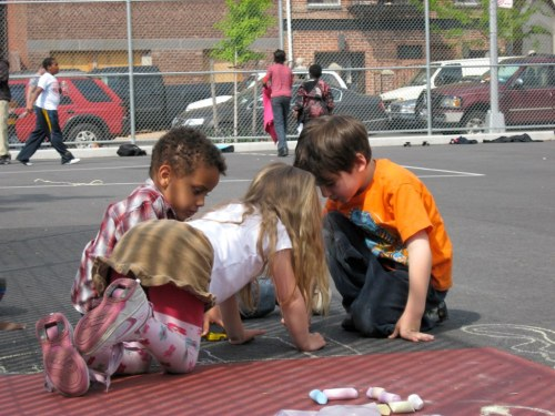 Playborhoods: Why Children Playing Street Games Is the Best Measure of a Healthy Neighborhood   Children's immediate neighborhoods—right on their block, outside their front door—are the ideal places for them to play outside. These are the safest, most comfortable places for children outside their homes because they can stay within earshot of their parents, and they can also get to know dozens of neighbors.    So, neighborhoods need children, and children need neighborhoods. Can we bring children back to neighborhoods again?  photo via flickr:CC | Treetop Mom