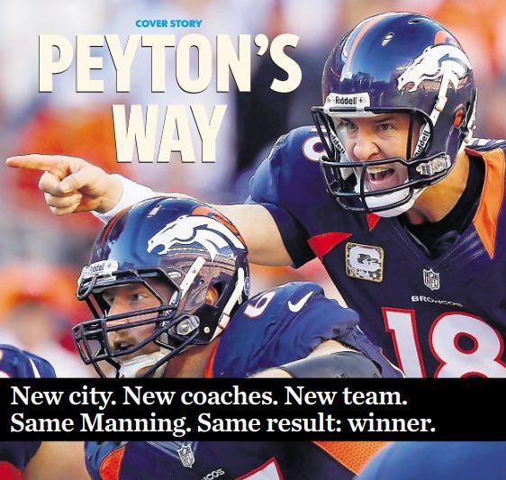 Peyton Manning Is Back and Better Than Ever  Every few days, Archie Manning's phone will ring early in the morning. It's even earlier in Colorado, where Peyton Manning frequently makes the most of his time on the 20-minute commute from his home in an upscale suburb of Denver to the Broncos training facility. Archie Manning has been making it a point not to bother his son too much during his first season in Denver, but this much is clear from those phone calls: Peyton Manning is happy and enjoying football more than ever.  Read the Rest: Lindsay H. Jones @ USA TODAY Sports