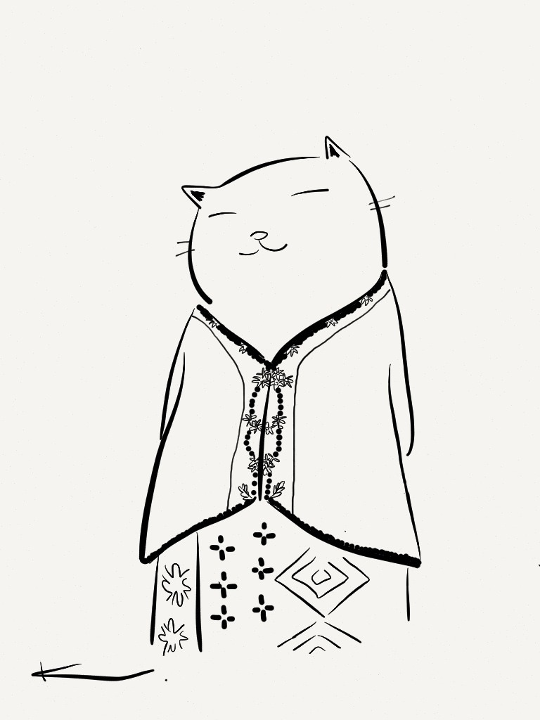 A content Nyonya cat. I'll be doing a series of these soon now that Paper allows me to inject in more detail with it's zoom feature.