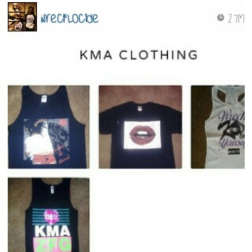 Follow @wrecklocide and @kma_clothing check out the site and get the gear. Kmaclothing.bigcartel.com #clothing #kma #zfg #dbd #bigcartel #clothingline #fashion