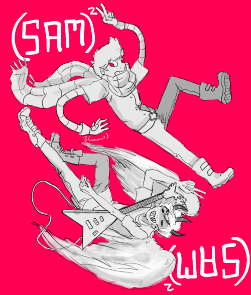 coconutcoconutcoconut:  Cap's Sam on top and my Sam on bottom I really wanted to do this and I finally had time to finish  OH MY GOD LOOK AT THESE NERD BABIES AAAAAA I'M CRYING