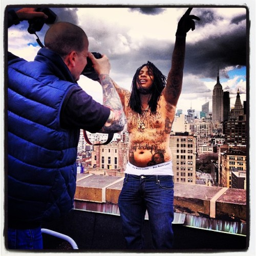 Just photograhed #wakaflocka rooftop NYC style!! Thanks @cityofdiamonds !