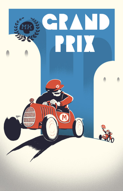 dalai-karma:  Mario Kart - Created by Curtis Tiegs  I just had a dream about Mario Kart last night.
