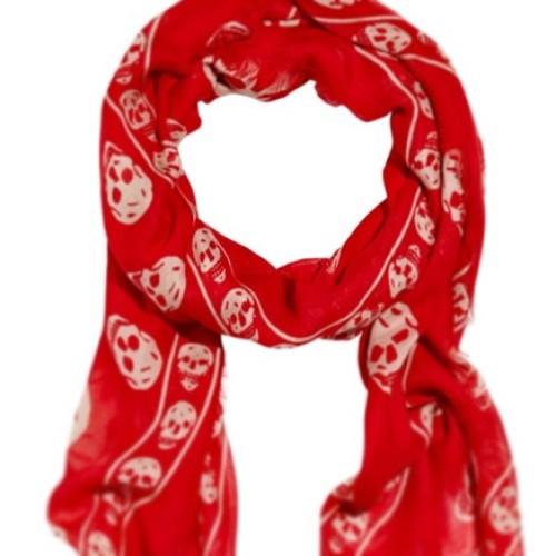 Yes please! @worldmcqueen #alexandermcqueen #skull #scarves #ss13 #red #instahappy #obsessed #silk #wantone