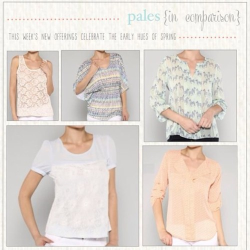 Pretty in pastel- new spring arrivals are here! #springfashion #spring #pastel #whatsnew