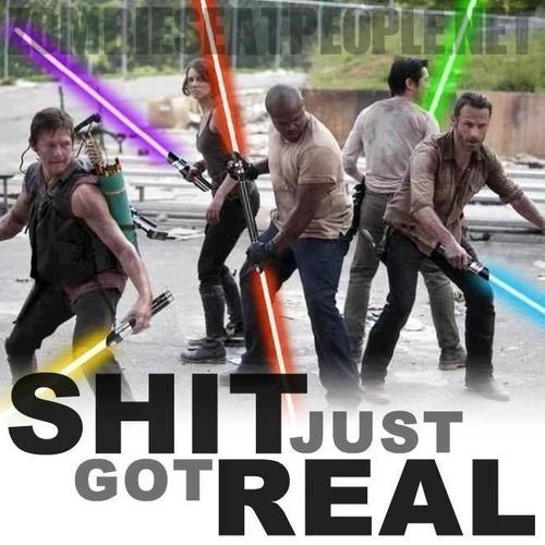 thebeamer:  I would gladly accept a Walking Dead/Star Wars mash up as the new Star Wars entry. So much awesome here.