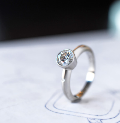 diamond ring by J ALBRECHT DESIGNS