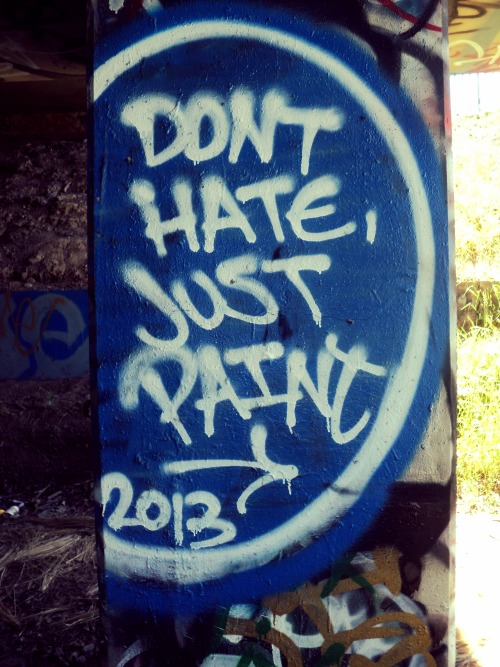 stayliveincali:  Don't hate just paint '
